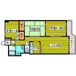 北海道札幌市東区伏古八条4丁目の賃貸マンションの間取り