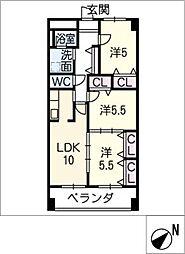 East One[2階]の間取り
