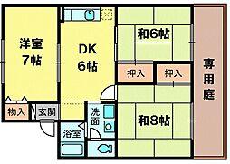 セジュール藤田[1階]の間取り