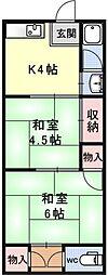 一里山マンション[2号室号室]の間取り