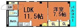 デイズハイツ桜川[7階]の間取り