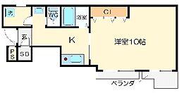 リブロン和泉町[3階]の間取り