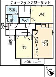 ドリームステージB棟[2階]の間取り
