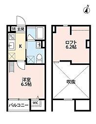 Yutopia新長田(ユートピア シンナガタ)[2階]の間取り