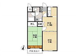 マーブルハイム[1階]の間取り