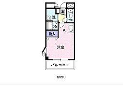 セルフィール江戸川台[405号室]の間取り