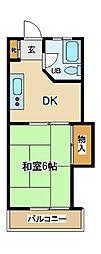 東京都府中市宮西町5丁目の賃貸マンションの間取り