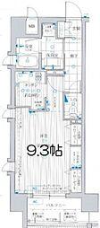 KAISEI四天王寺[7階]の間取り
