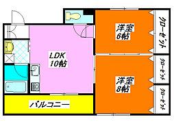 メゾン・ド・ボヌール 501号室[5階]の間取り