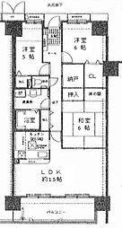 サザンヒルズ井吹台2番館[11階]の間取り