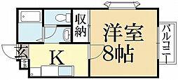 シャーリアキタヤマ[2階]の間取り