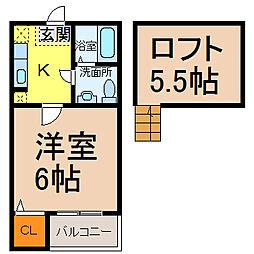 サンクチュアリ (サンキュチュアリ)[2階]の間取り