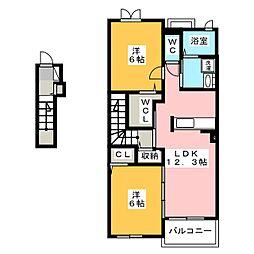 ベルオーブIII[2階]の間取り
