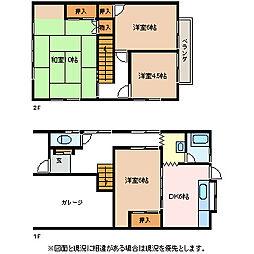 [一戸建] 長野県松本市中央4丁目 の賃貸【/】の間取り