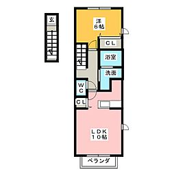 ベルフィオーレII[2階]の間取り