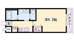 JR東海道・山陽本線 土山駅 バス18分 稲美町役場前停下車 徒歩2分の賃貸アパート 2階1Kの間取り