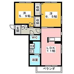 メゾン・ド・ソレイユ[1階]の間取り