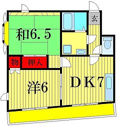 リバーサイドハイツBAM[3階]の間取り