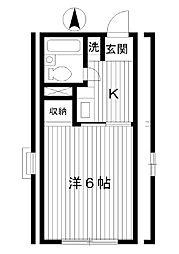 東京都練馬区早宮の賃貸アパートの間取り