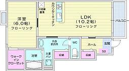 JR仙山線 愛子駅 徒歩15分の賃貸アパート 1階1LDKの間取り