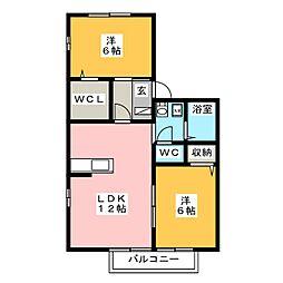 プレミアムタウンA[2階]の間取り