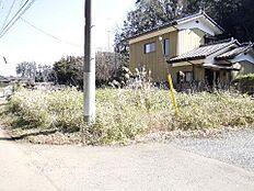 石岡市山崎 現地土地写真です。
