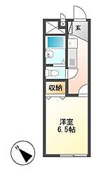 レオパレスMIZUNO[1階]の間取り