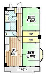 東京都町田市玉川学園4丁目の賃貸マンションの間取り