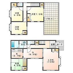 [一戸建] 兵庫県神戸市垂水区星が丘2丁目 の賃貸【/】の間取り