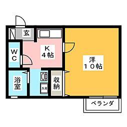 セジュールエントピアIIA棟[2階]の間取り