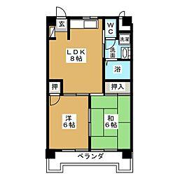 丸の内カジウラマンション[3階]の間取り