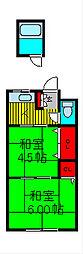 城石荘[2階]の間取り