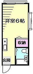 エンゼルハイムB[2階]の間取り