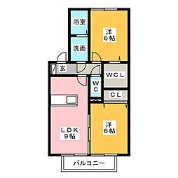 プレミアムタウンB[1階]の間取り