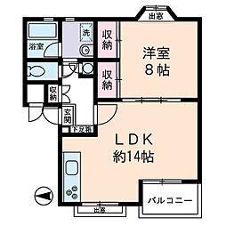 ウッドビュー上北沢[2階]の間取り