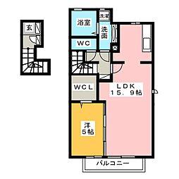 ミルハーナ[2階]の間取り