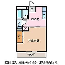 クロックパレス[2階]の間取り