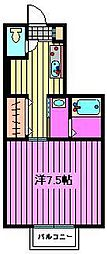 リリ参番館[1階]の間取り