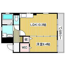 愛知県名古屋市中川区一色新町1丁目の賃貸マンションの間取り