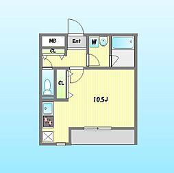 ポルタ西新宿[102号室]の間取り