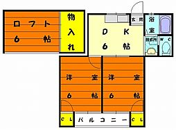 キーズハウス[2階]の間取り