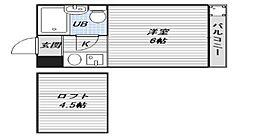 シティパレス駒川中野[2階]の間取り