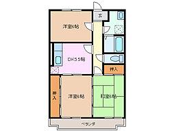 三重県四日市市別名1丁目の賃貸マンションの間取り
