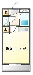 UNAX−V(ユナックスファイブ)[3階]の間取り