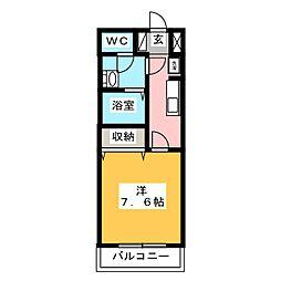 クリザンティーム[1階]の間取り