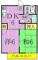 昭和ハイツB[2階]の間取り