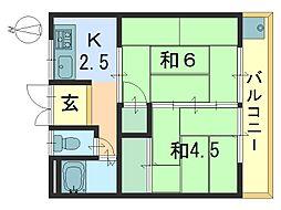 さわらび荘[2階]の間取り
