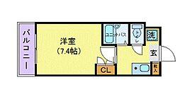 東京都日野市日野本町2丁目の賃貸マンションの間取り