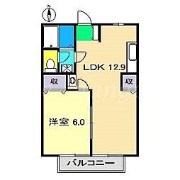 ハイツ久得IIA[2階]の間取り