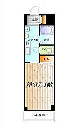 神奈川県横須賀市汐入町2丁目の賃貸マンションの間取り